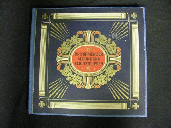 3: GERMAN CIGARETTE CARDS ALBUM MILITARY MARINE