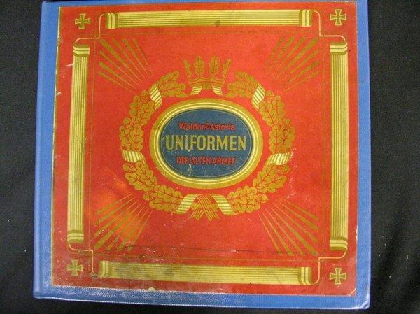 4: GERMAN CIGARETTE CARDS ALBUM MILITARY ARMY