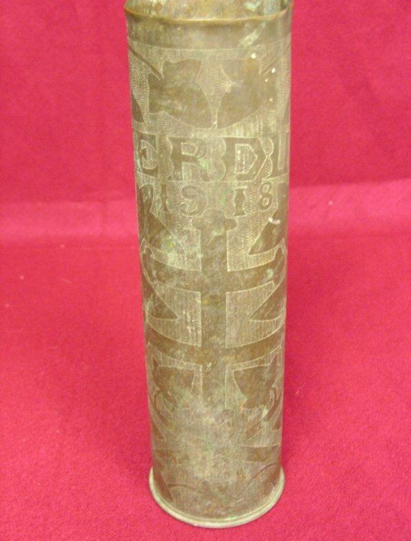 6: TRENCH ART VERDUN 1918 SHELL CASING