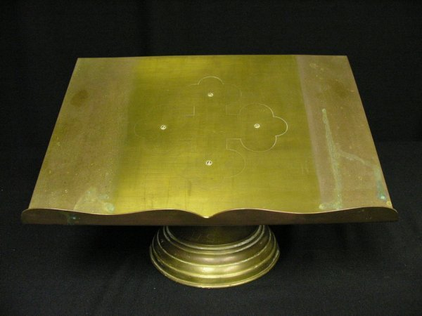 14: US BRASS REVOLVING BOOK OR BIBLE STAND
