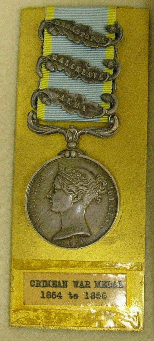 544: BRITISH MILITARY CRIMEAN WAR MEDAL 1854-55