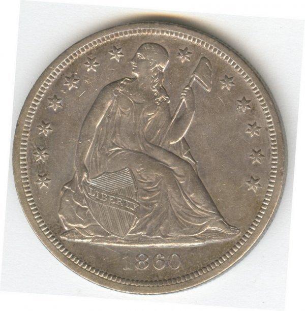 1400: 1860-O SILVER DOLLAR