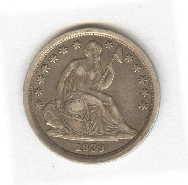 1402: 1834 U.S. SEATED LIBERTY DIME