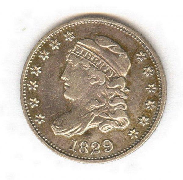 1403: 1829 U.S. HALF DIME COIN