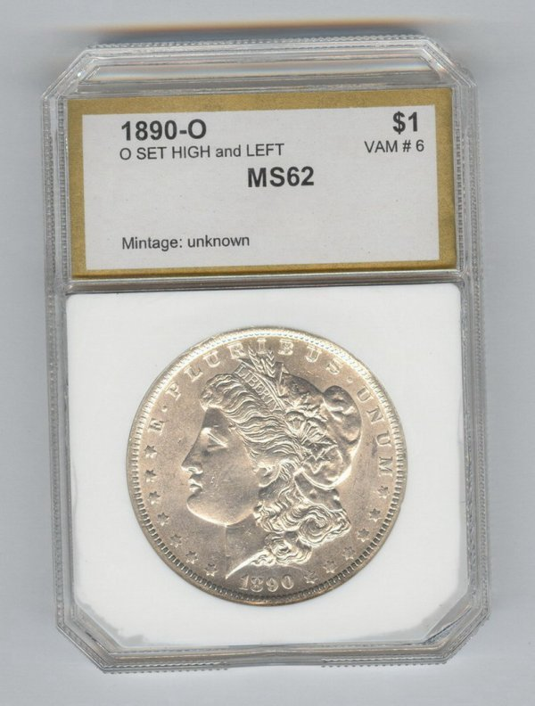 1406: 1890-O U.S. MORGAN SILVER DOLLAR MS-62