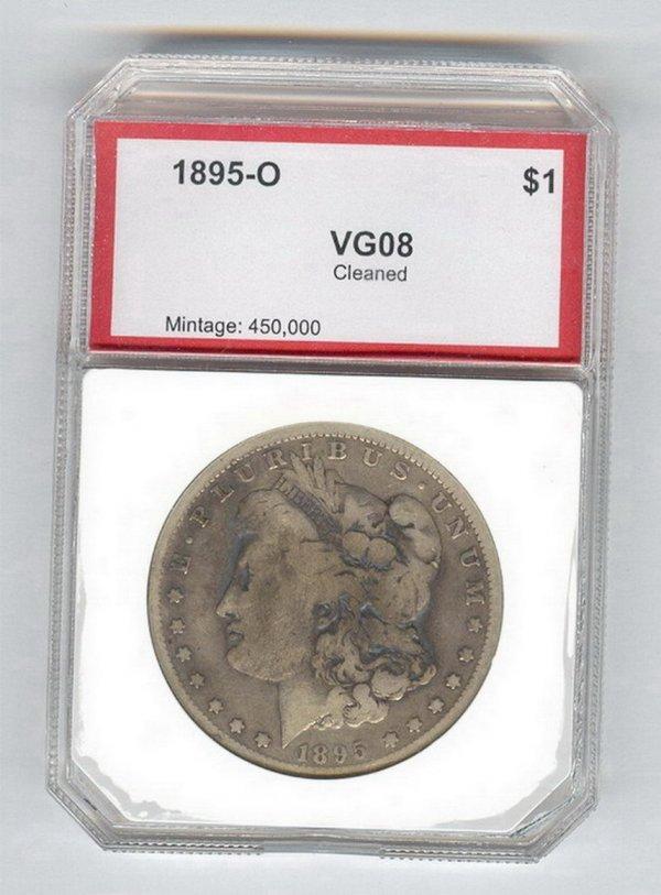 1408: 1895-O U.S. SILVER DOLLAR VG08