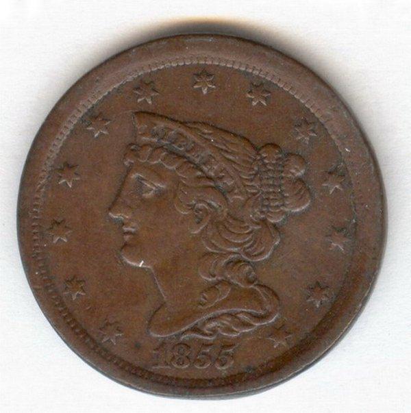 1414: 1855 U.S. HALF CENT