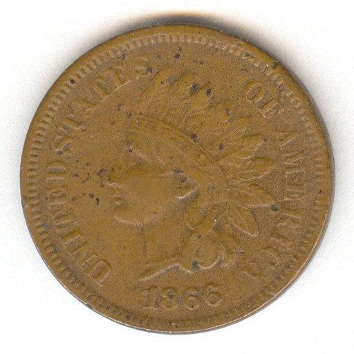 1415: 1866 U.S. INDIAN HEAD CENT