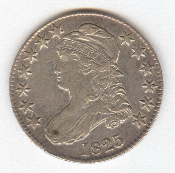 1417: 1825 U.S. HALF DOLLAR