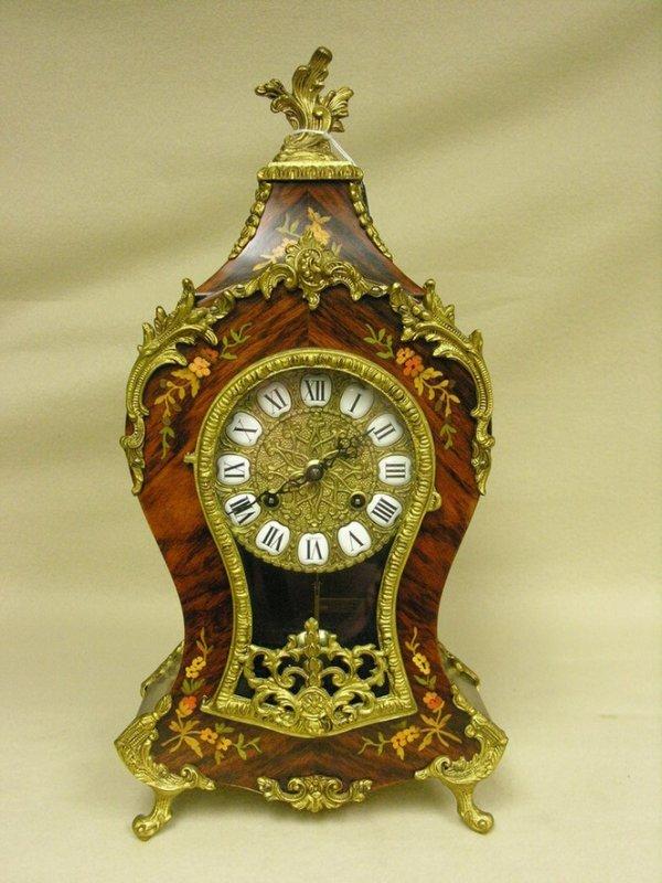 1575: LE ORE ITALY INLAID CLOCK