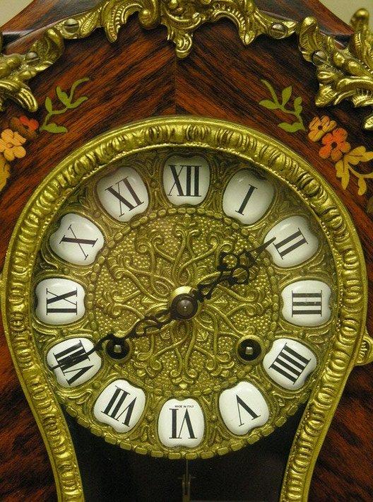 1575: LE ORE ITALY INLAID CLOCK - 2