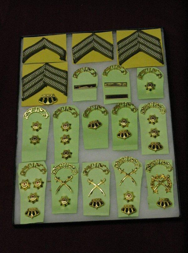 13: JORDAN ARMY RANK INSIGNIAS