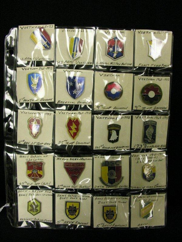 351: U.S MILITARY INSIGNIA COLLAR PINS