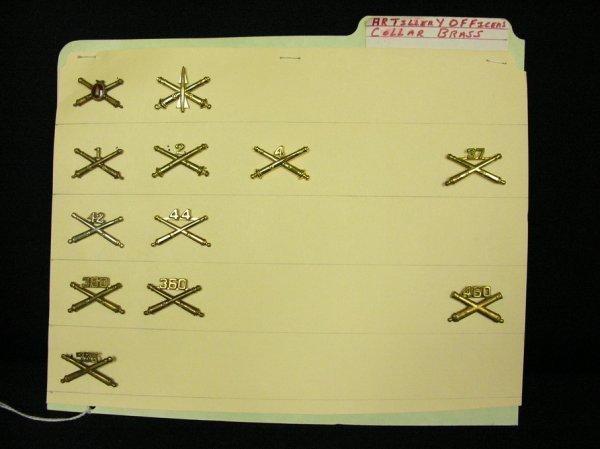 352: U.S MILITARY INSIGNIA COLLAR PINS