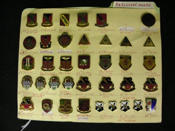 357: U.S MILITARY INSIGNIA COLLAR PINS