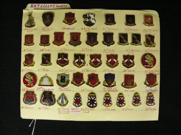 359: U.S MILITARY INSIGNIA COLLAR PINS