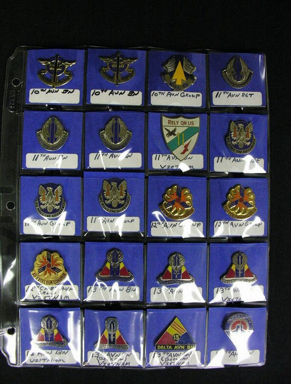 369: U.S MILITARY INSIGNIA COLLAR PINS