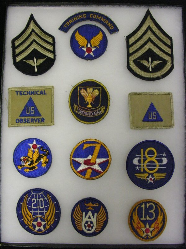 599: WWII US ARMY AIR FORCE INSIGNIA PATCHES