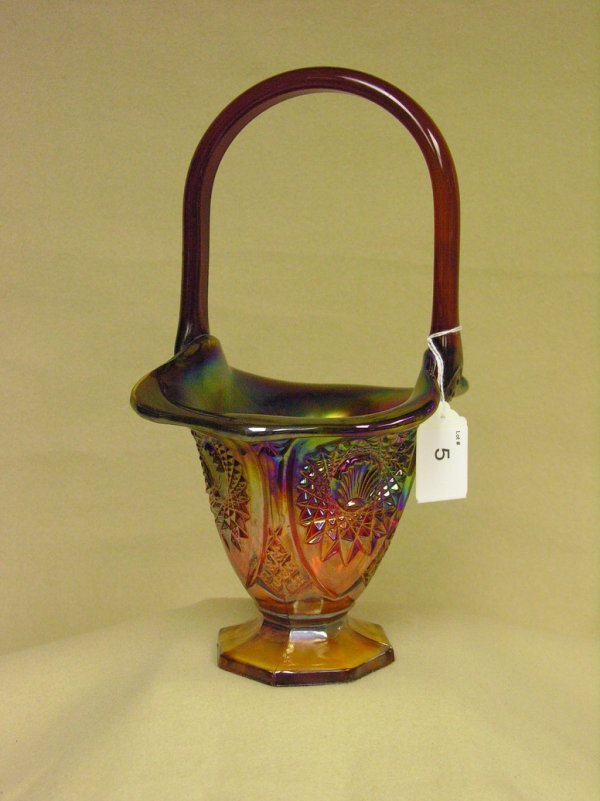 5: CARNIVAL GLASS BASKET