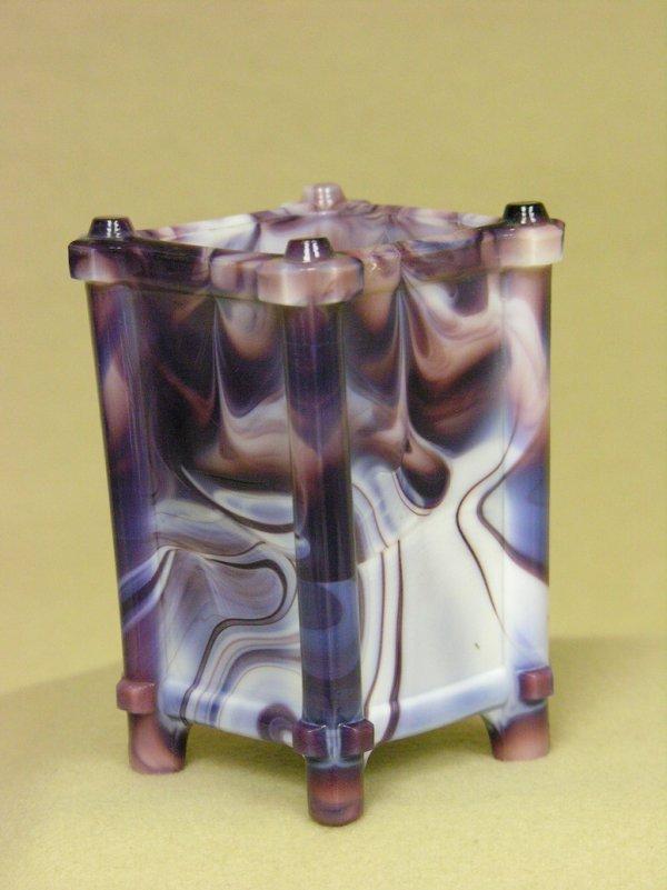 16: SLAG GLASS VASE