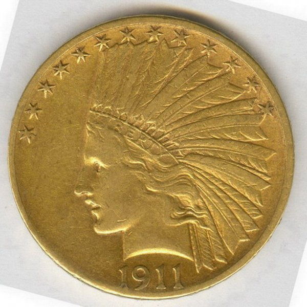 506: 1911D U.S. GOLD EAGLE TEN DOLLAR COIN