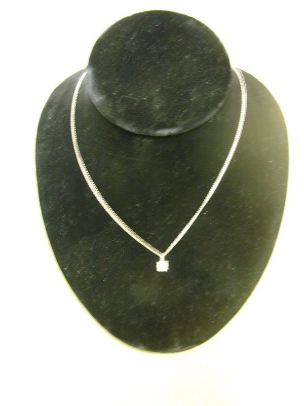508: DIAMOND SOLITARE ON NECKLACE