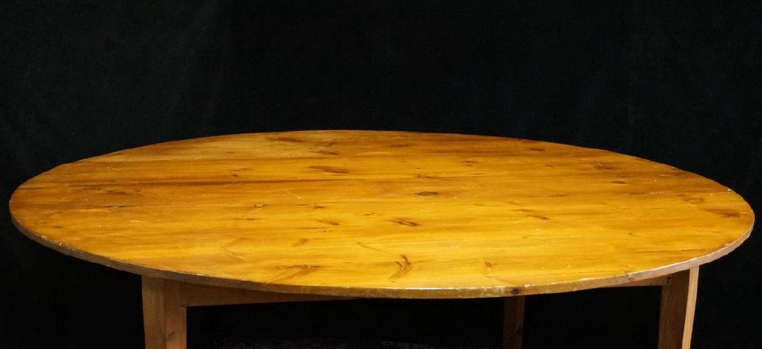 CIRCULAR PINE FARM TABLE - 2