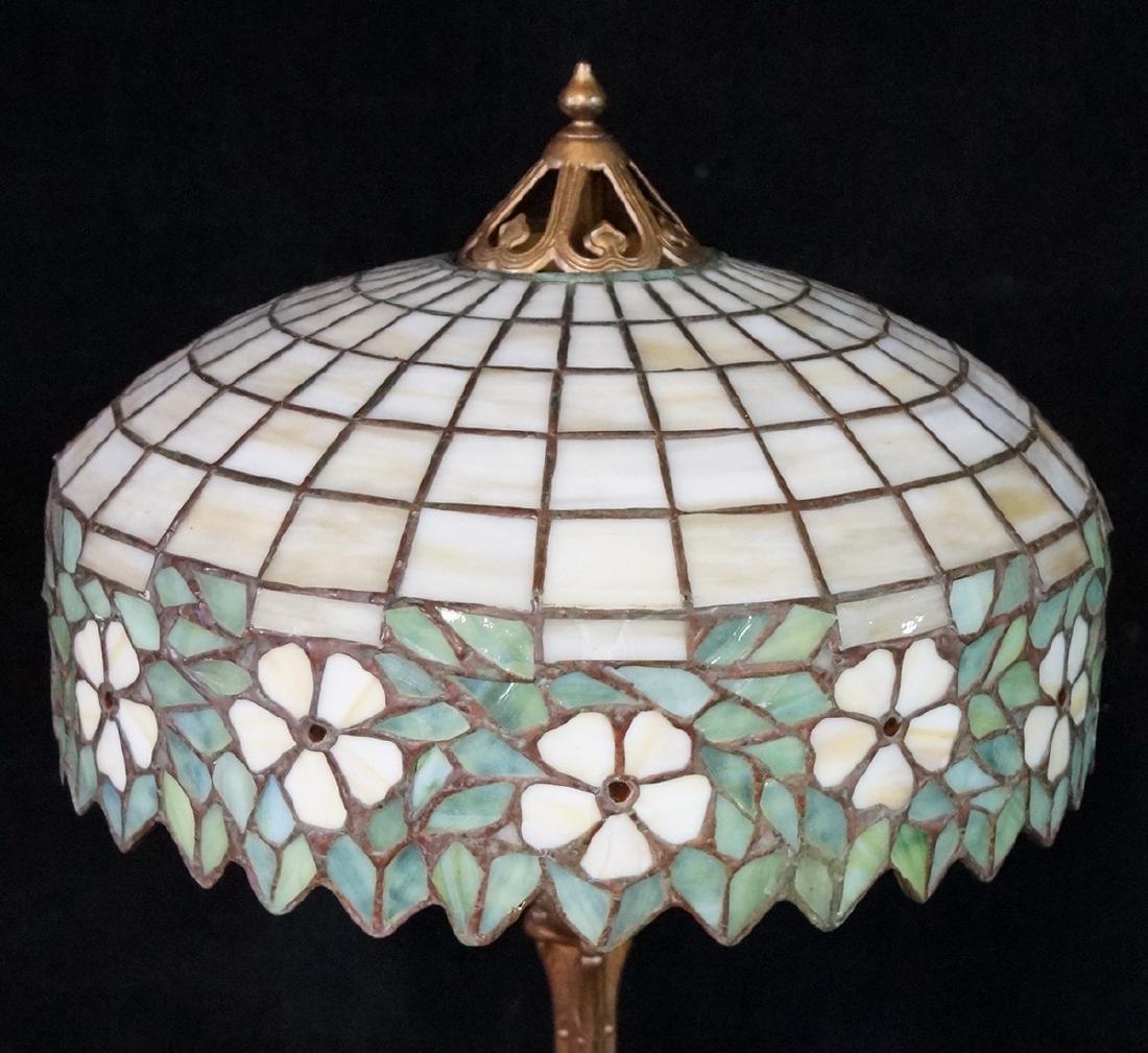 HANDEL LAMP (?) W/ TEE PEE SHADE BASE UNSIGNED - 2