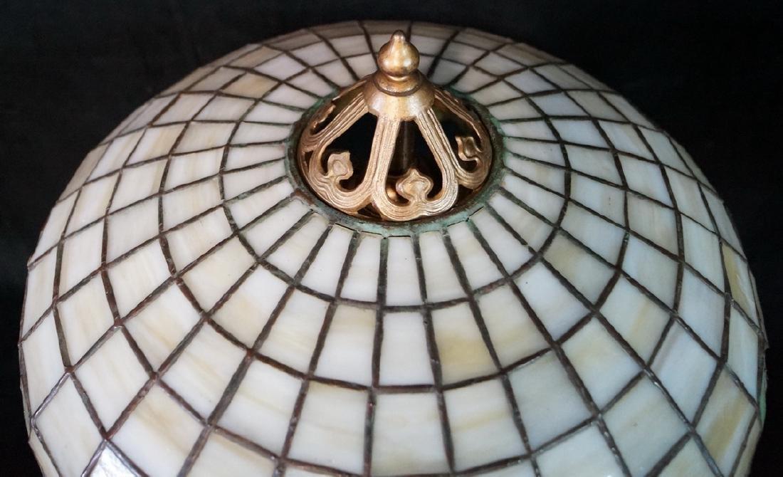 HANDEL LAMP (?) W/ TEE PEE SHADE BASE UNSIGNED - 3