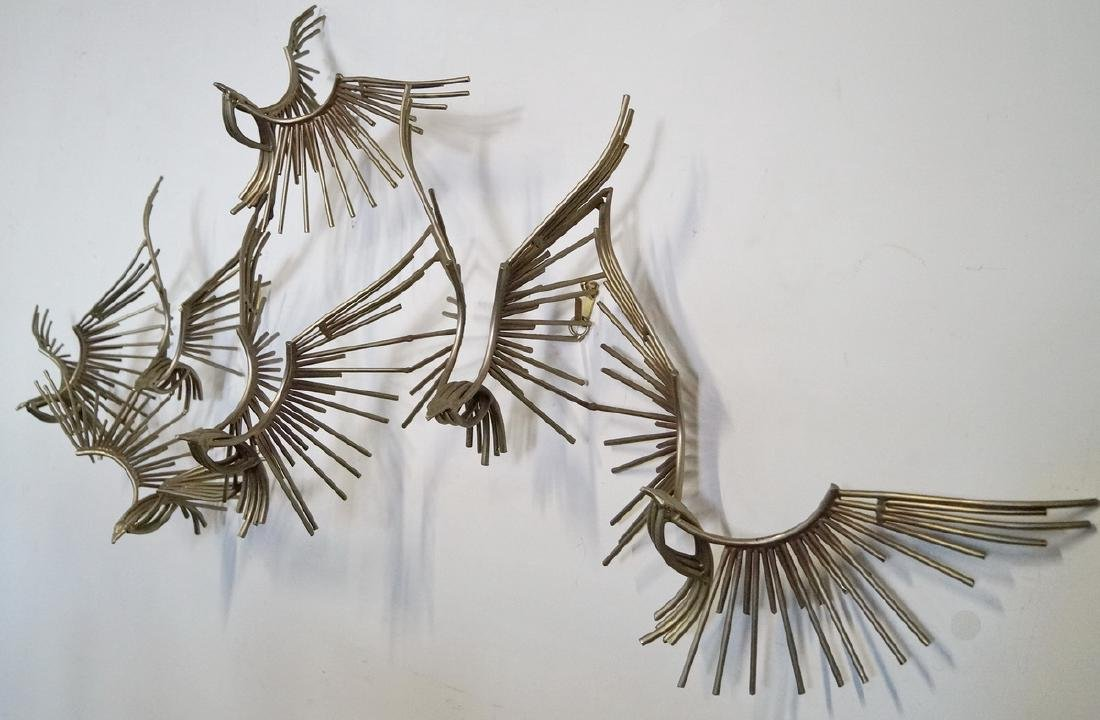 SIGNED JERE HANGING WALL SCULPTURE C. 1977 - 3