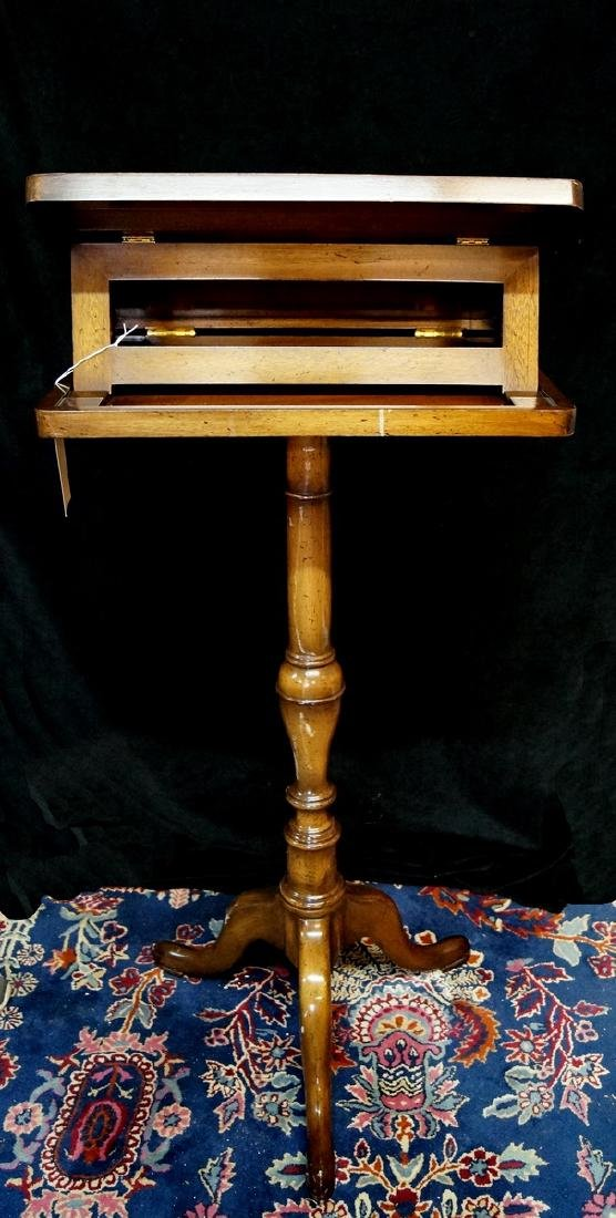 QUEEN ANNE STYLE MAHOGANY ADJUSTABLE BIBLE STAND - 3