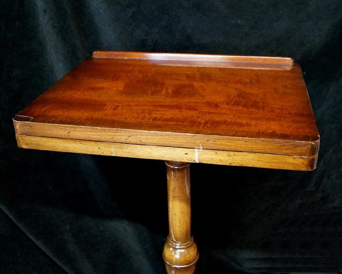 QUEEN ANNE STYLE MAHOGANY ADJUSTABLE BIBLE STAND - 4