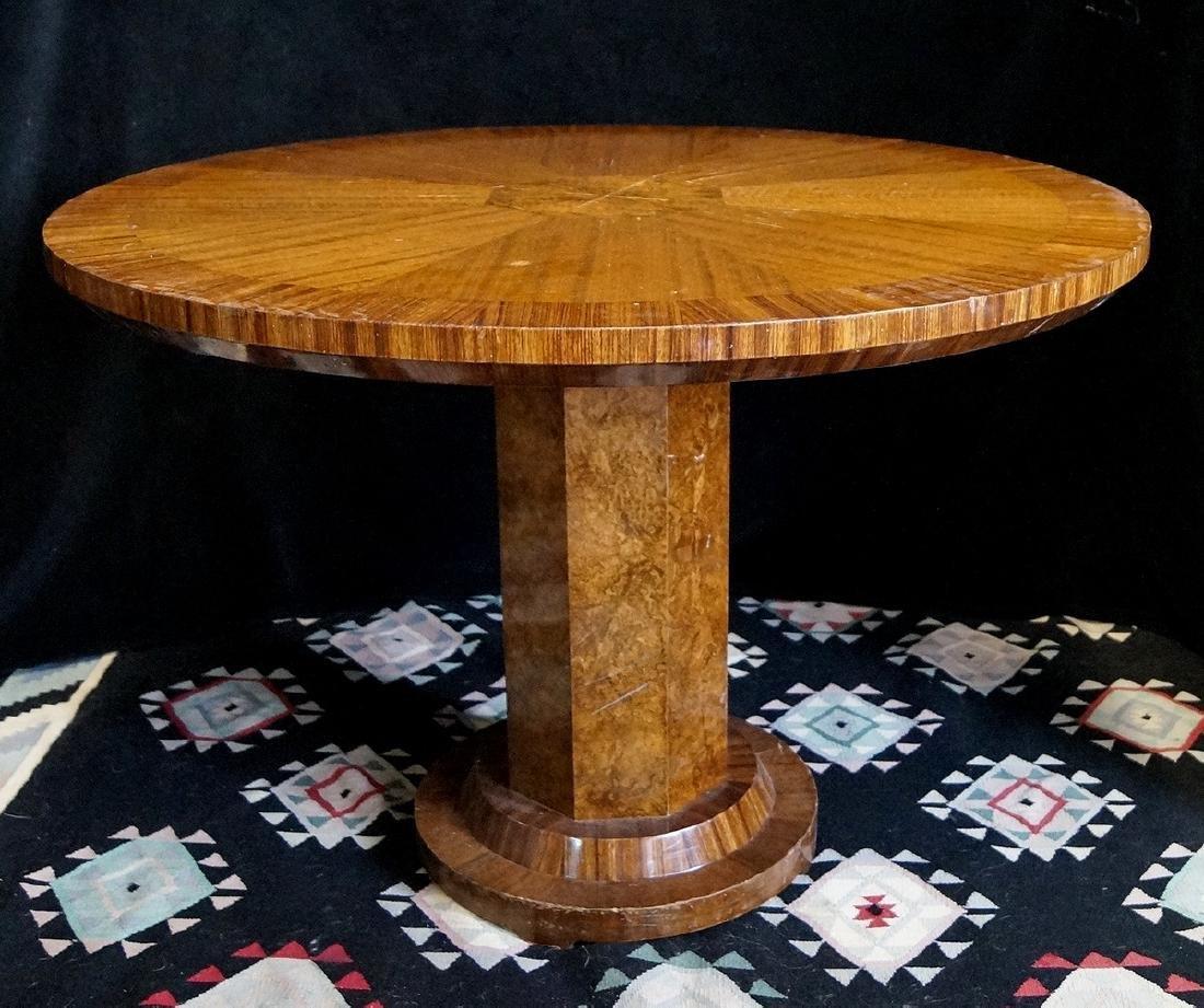 CIRCULAR BURLED CENTER TABLE
