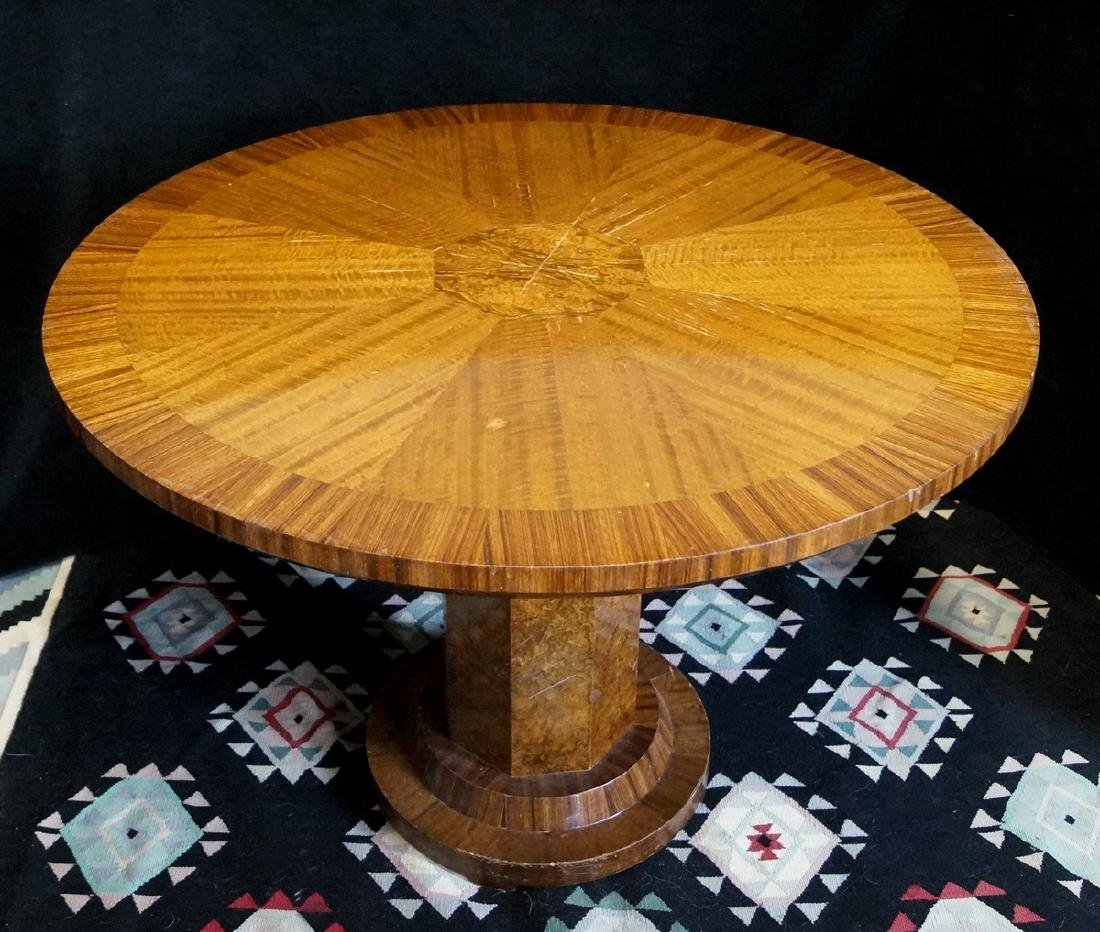 CIRCULAR BURLED CENTER TABLE - 4