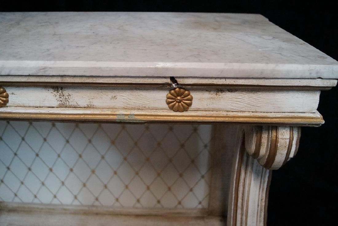 PAINTED MARBLE TOP PIER TABLE - 5