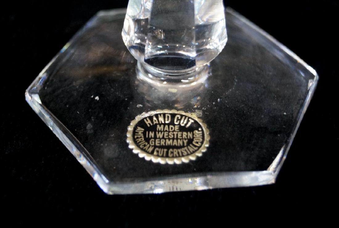 13 BAVARIAN CUT CRYSTAL GILT RIM SHERBETS - 3
