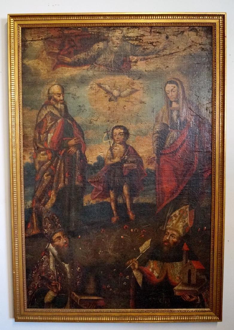 18TH C. O/C ARGENTINIAN RELIGIOUS SCENE