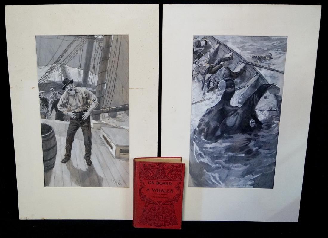 HARRY GEORGE BURGESS ILLUSTRATOR 2 SGN. WORKS ON PAPER
