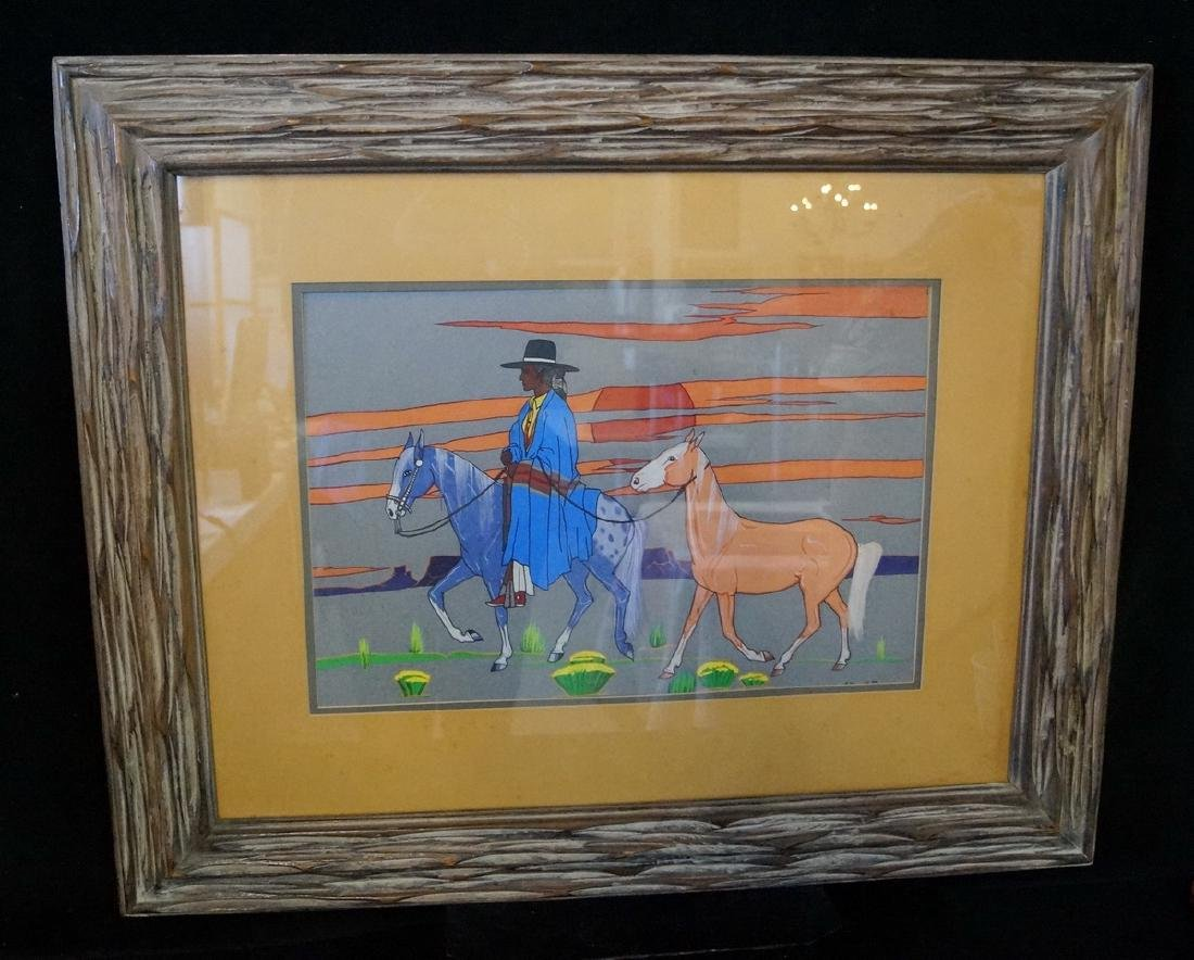 "ARTHUR C. BOGAY WORK ON PAPER ""I WANT A HORSE"" 1973 """