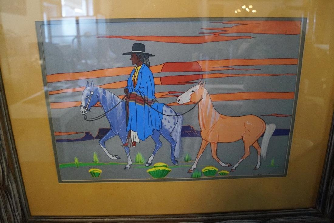 "ARTHUR C. BOGAY WORK ON PAPER ""I WANT A HORSE"" 1973 "" - 2"