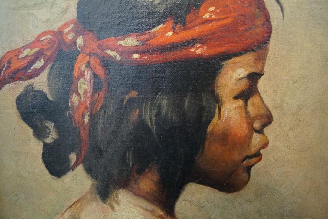 "A.C. BAIRNEL (?) OIL ON CANVAS  ""PORTRAIT OF A BOY W/ - 3"