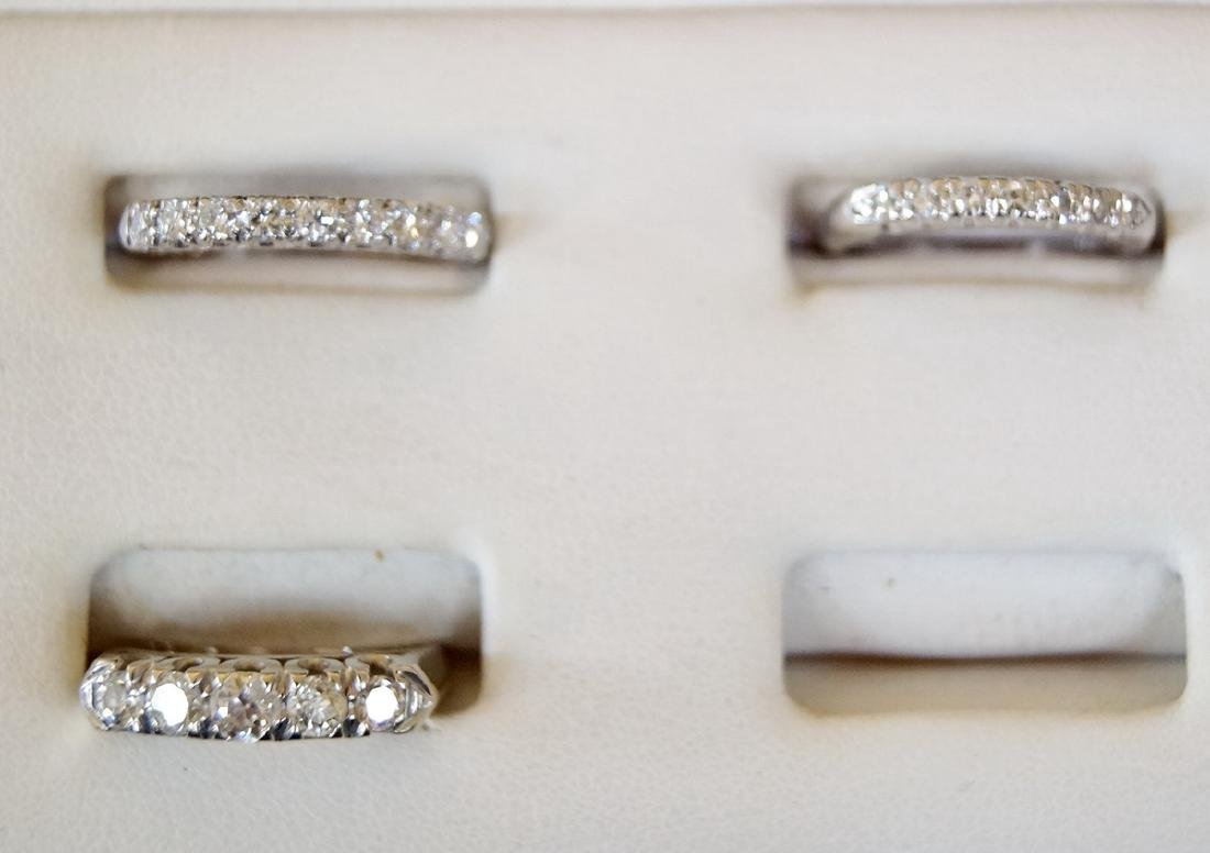 3 RINGS 2 PLATINUM & 1 14KT DIAMOND BANDS