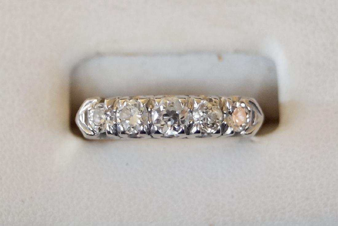 3 RINGS 2 PLATINUM & 1 14KT DIAMOND BANDS - 2