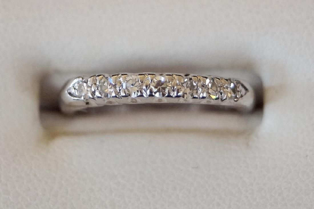 3 RINGS 2 PLATINUM & 1 14KT DIAMOND BANDS - 4