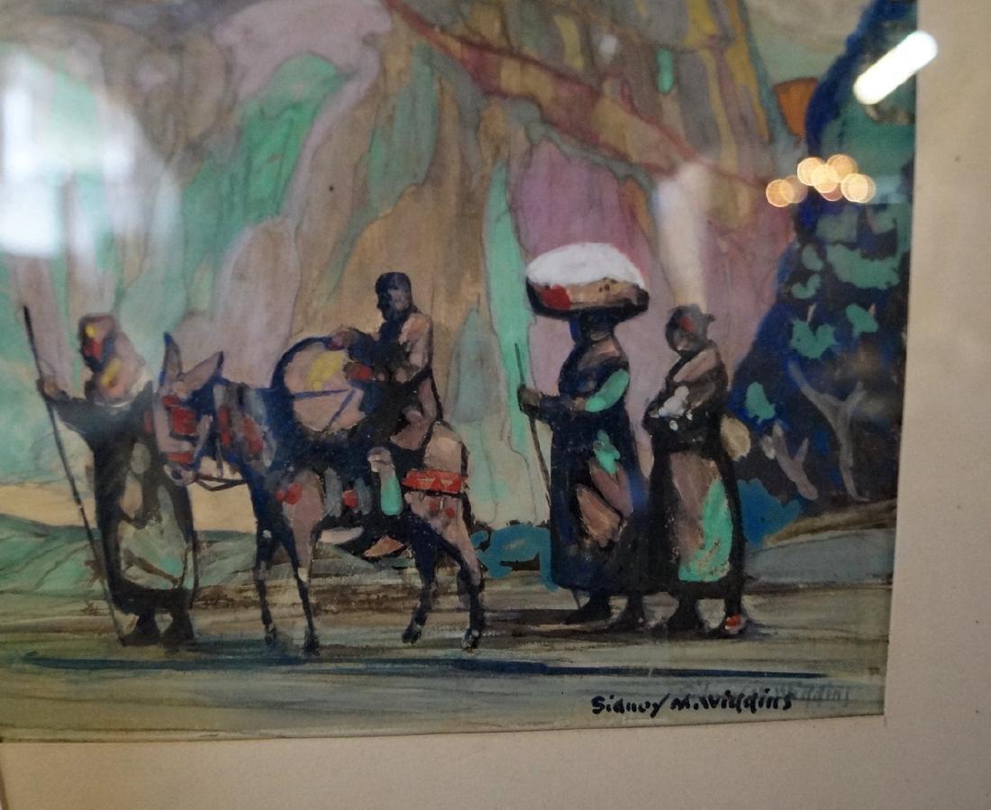 SIDNEY WIGGINS SGN. WORK ON ARTISTS BOARD - 2