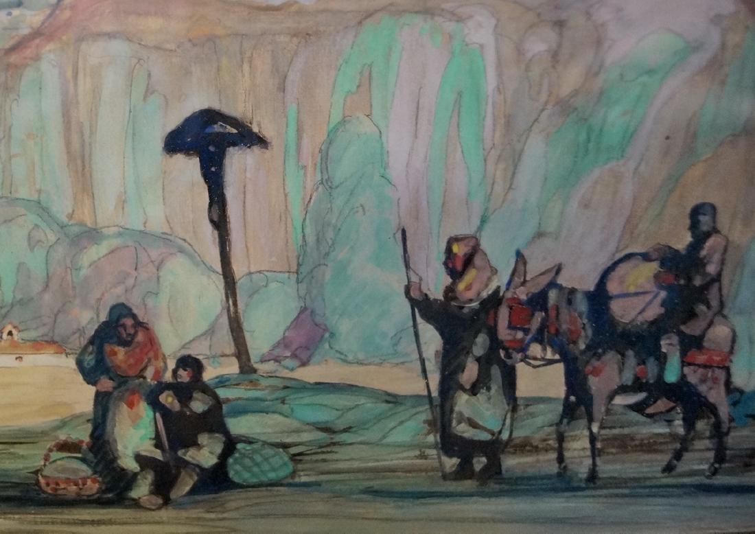 SIDNEY WIGGINS SGN. WORK ON ARTISTS BOARD - 4