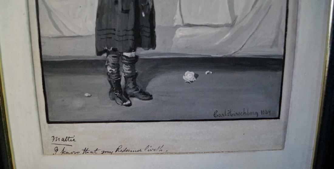 CARL HIRSCHBERG ILLUSTRATOR OIL ON ARTISTS BOARD 1884 - 2