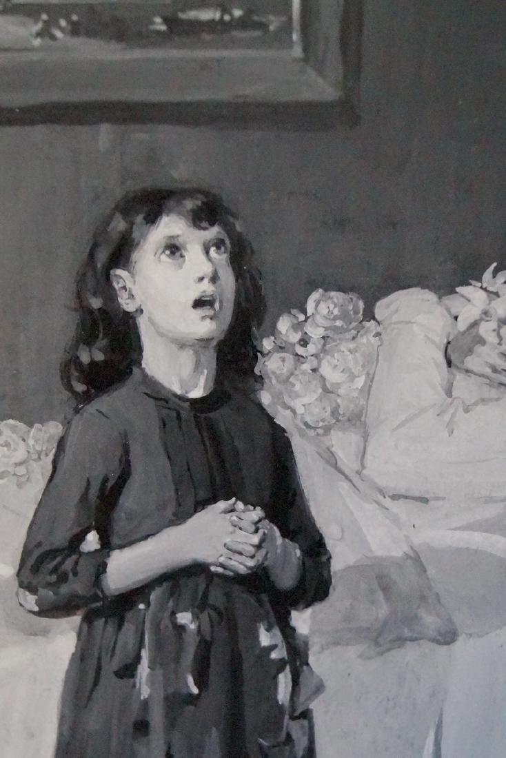 CARL HIRSCHBERG ILLUSTRATOR OIL ON ARTISTS BOARD 1884 - 3
