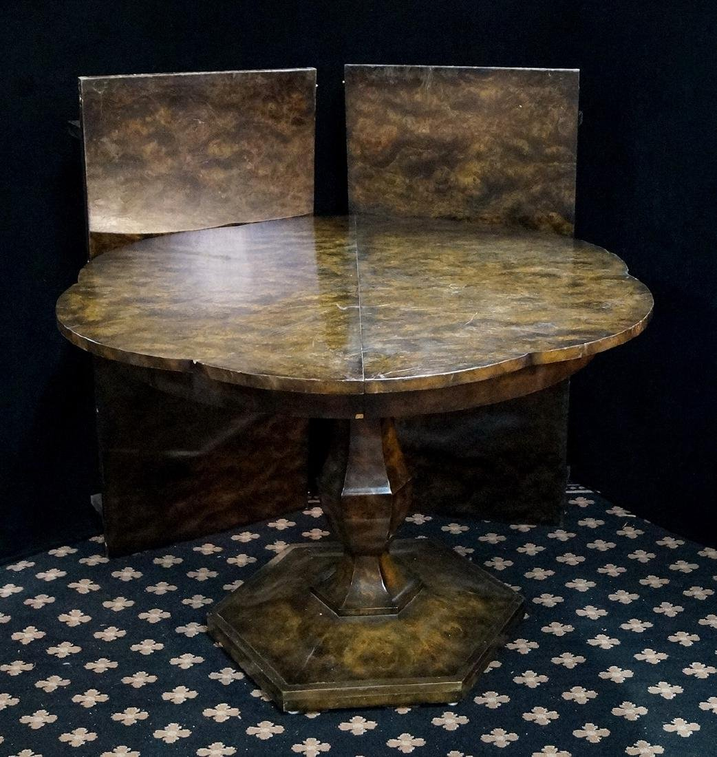 FAUX TORTOISE SCALLOPED TABLE