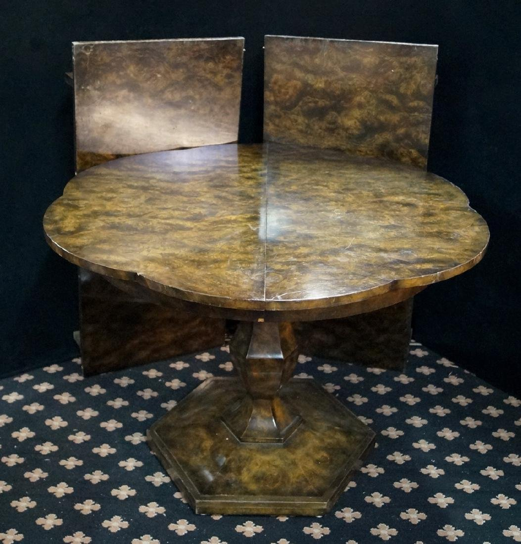 FAUX TORTOISE SCALLOPED TABLE - 2